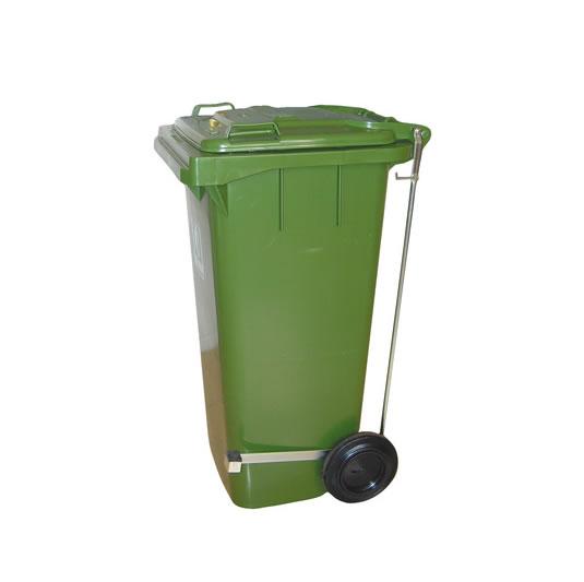 Contenedores para residuos - Plásticos - 2 ruedas - Con pedal