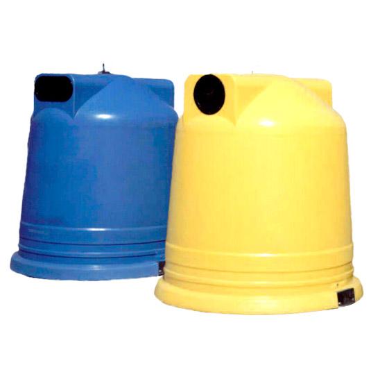 Contenedores para residuos tipo iglú circular
